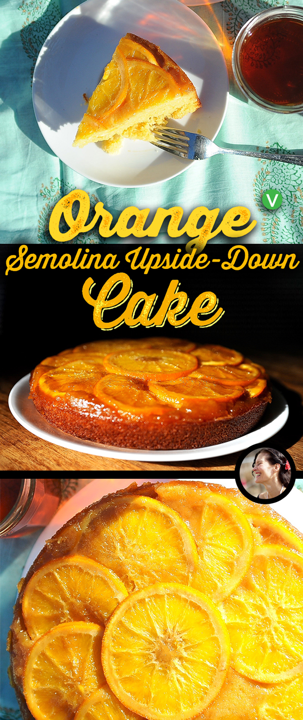 Orange Upside-Down Semolina Cake (Vegan)