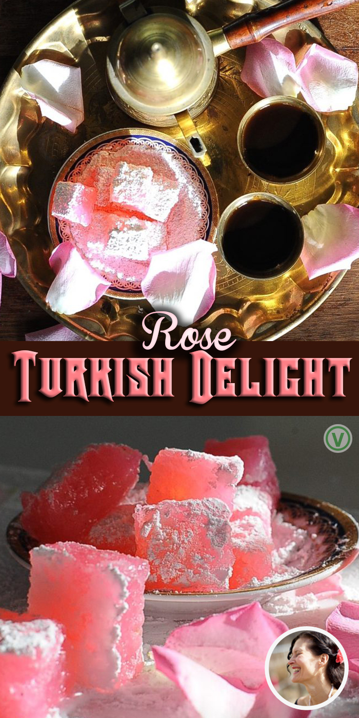 This Traditional Rose Turkish Delight Recipe is the perfect gift to give a lover of Narnia. It takes a little work to cook but you will be rewarded with delicious candy. #sunnysidehanne #turkishdelight #narnia