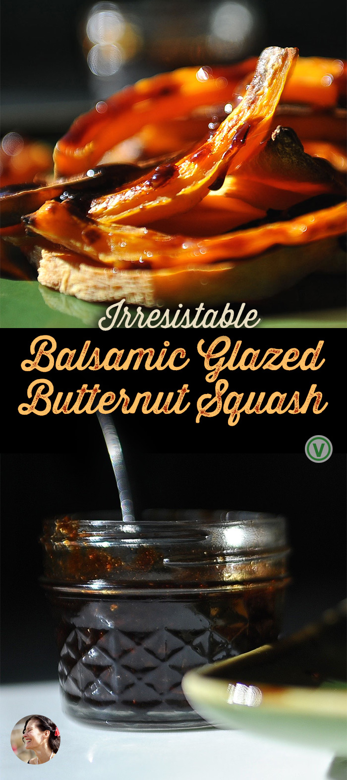 Strips of golden roasted Butternut squash tangled and tossed in a balsamic reduction. A side dish, a  healthysnack, perfect tossed on a rice. #sunnysidehanne