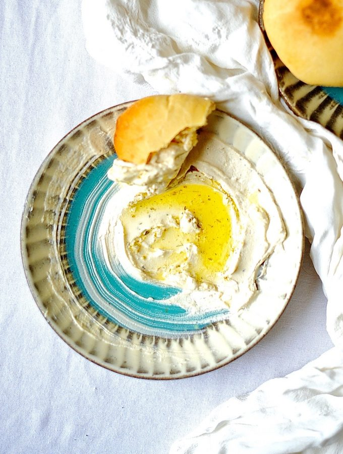 Vegan Labneh. Paleo, Gluten Free and Fresh Pita (Vegan)