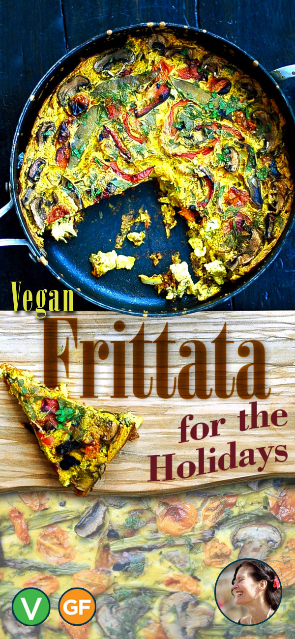 Vegan Frittata for the Holidays (Gluten Free)