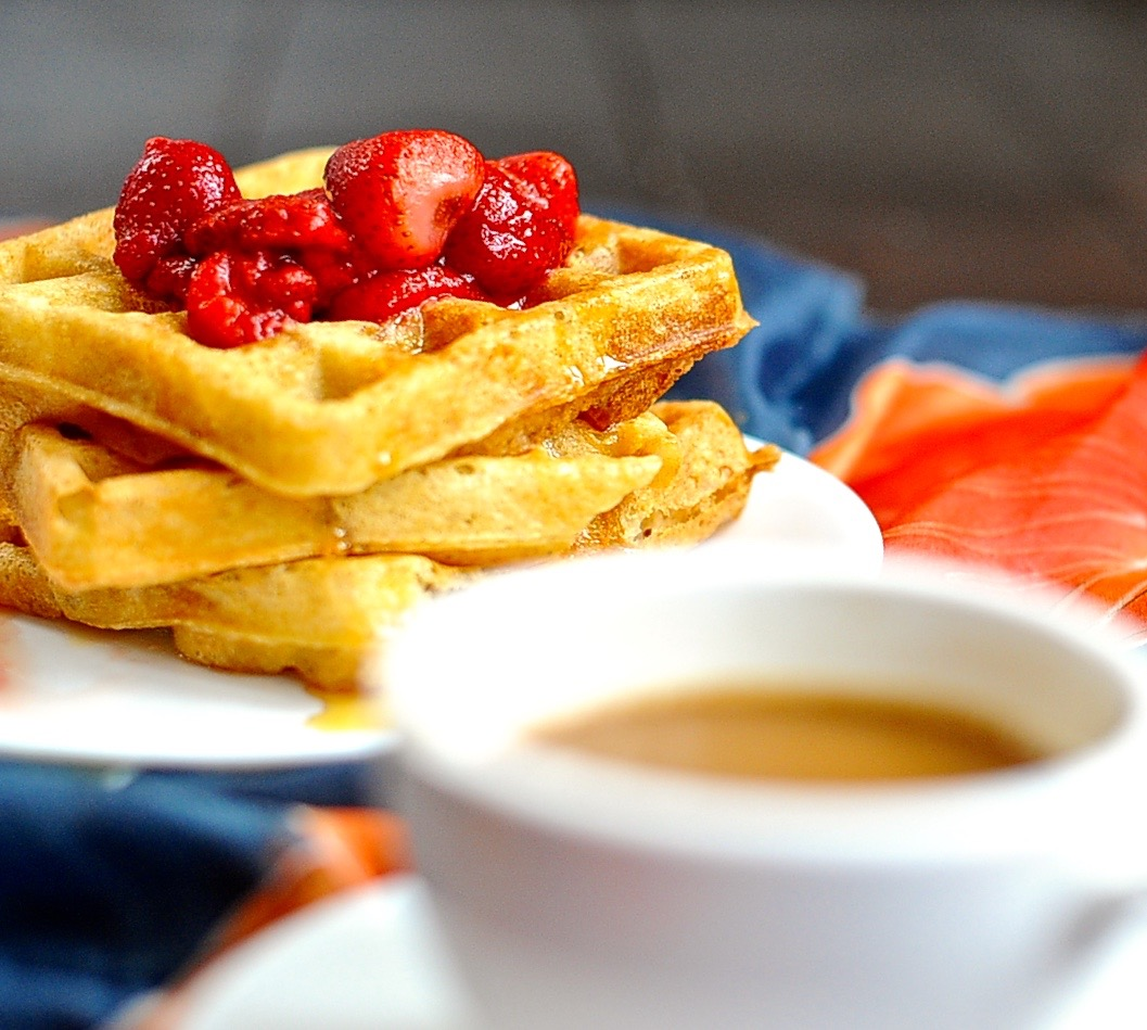 Vegan Raised Waffles, Yeasted Overnight Waffles (Aquafaba)