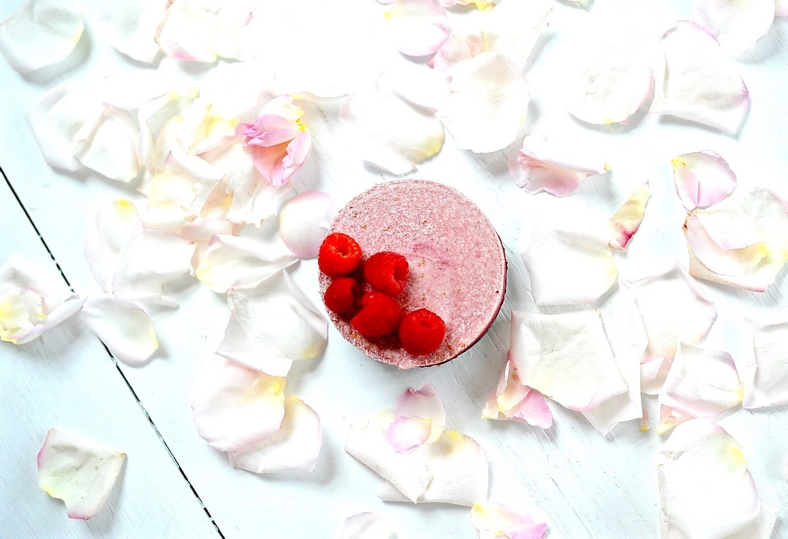 Raw Raspberry Rose Cheesecake (Vegan, Paleo, Gluten Free)