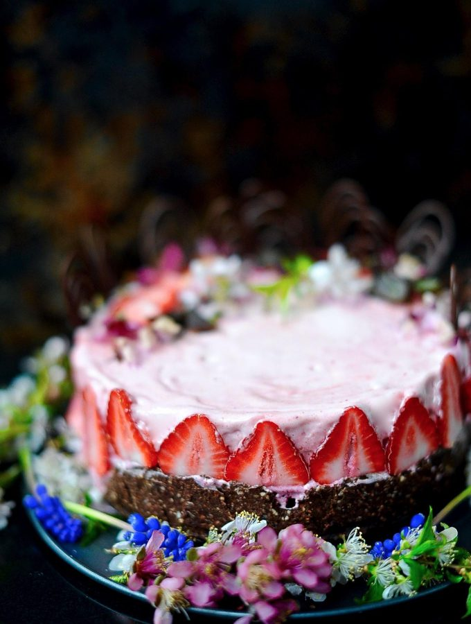Berry Ice-cream Cake (Vegan, Gluten Free)