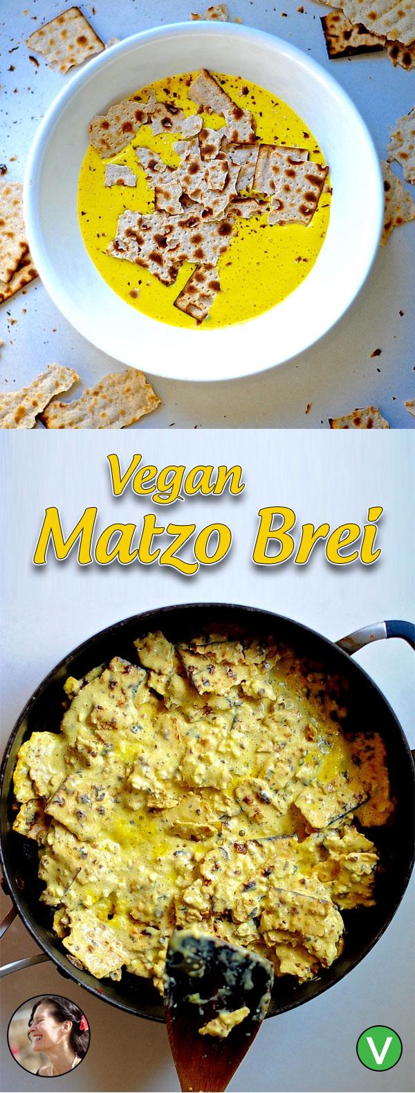 Vegan Matzo Brei Recipe for Passover, that tastes just like the original.