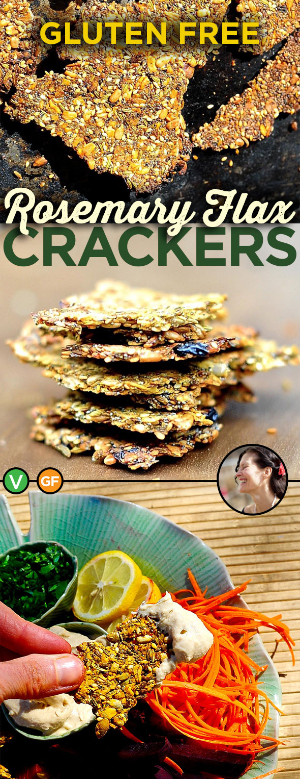Healthy baked Seeded Rosemary Crackers. Easy Grainfree cracker recipe that is full of healthy seeds and nuts. Vegan, Gluten Free via @SunnysideHanne #sunnysidehanne #aquafaba #grainfree #grainfreecracker #crackers #glutenfreerecipes #glutenfreecracker #glutenfreeveganrecipes #glutenfreevegansnacks #glutenfreesnacks #healthysnacks #healthycrackers #wfpb #dairyfreerecipes #afterschoolsnack #flaxseed #chiaseeds #rosemary #crunchy #vegansnack #veganbaking