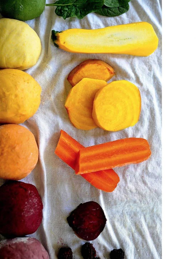 Naturally Colored Ravioli Dough with Butternut Squash Stuffing (Vegan)