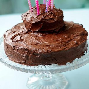 Decadent Chocolate Cake with Kahlúa Fudge Frosting (Vegan)