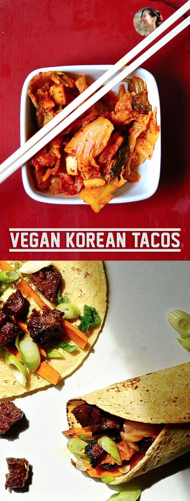 Korean Seitan Tacos, Vegan