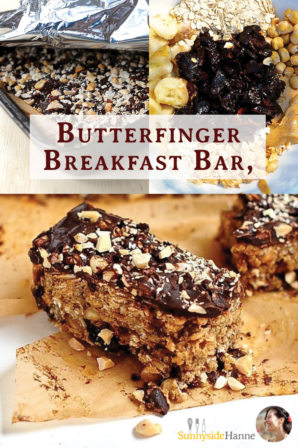 Butterfinger Peanut butter Breakfast Bar Pinterest pin
