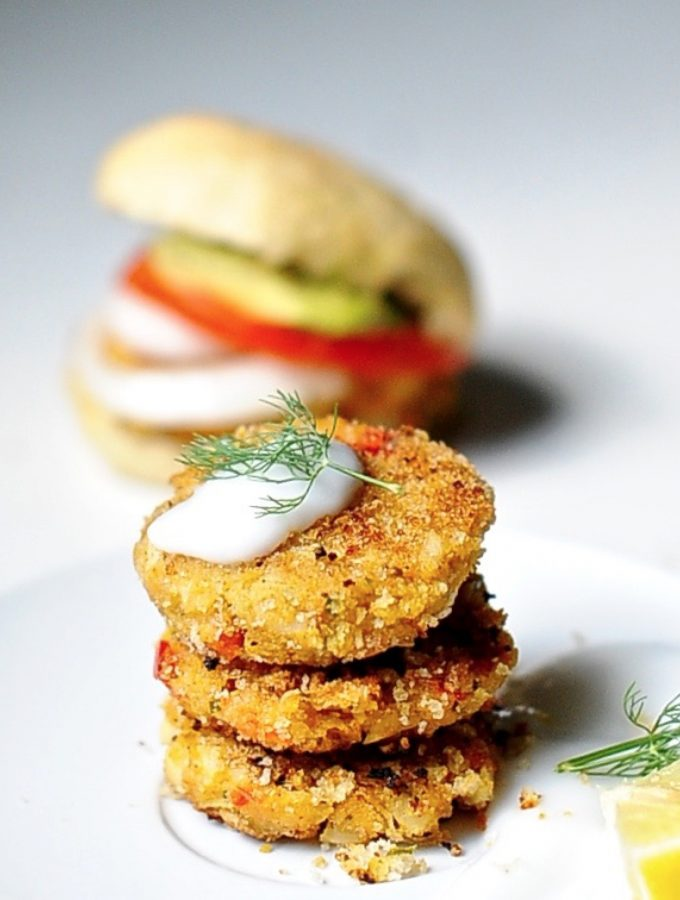 "Vegan ""Crab"" Cake sliders, – Vegan appetizer"