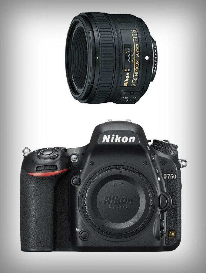 Nikon D750 DSLR + NIKKOR 50mm f/1.8D Lens