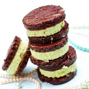 Matcha Mint Ice Cream Sandwiches (Vegan)