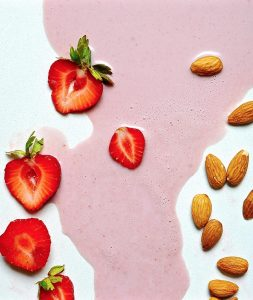 Strawberry Almond Milk (Vegan, Paleo)