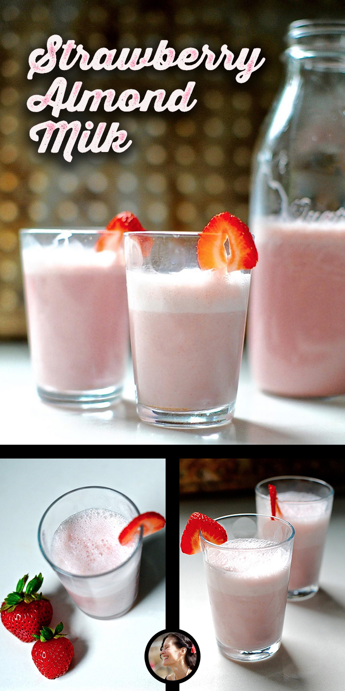 Strawberry-Almond-Milk