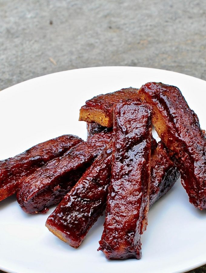 Bbq Vegan Ribs with Sticky Tamarind Bbq Sauce
