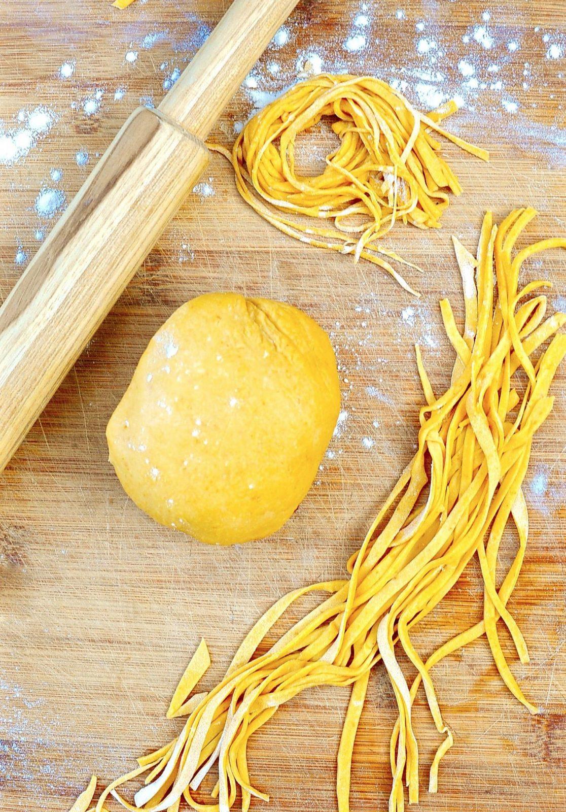 Fresh Pumpkin Pasta (Vegan)