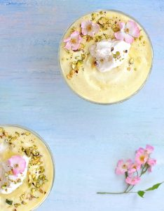 Lemon Mousse for A Magical Fairy Tea Party (Vegan)