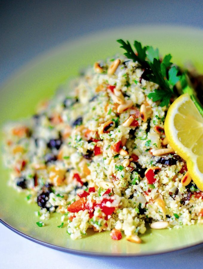 Raw Cauliflower Tabbouleh (Vegan, Paleo, GF)