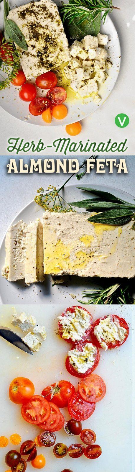Tangy Almond Feta Cheese, Vegan, Gluten Free