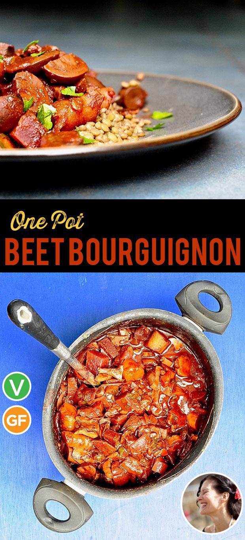 One Pot Beet Bourguignon (Vegan)