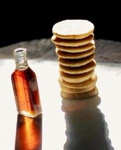 Rhode Island Johnnycakes with maple syrup (Vegan, Gluten Free)