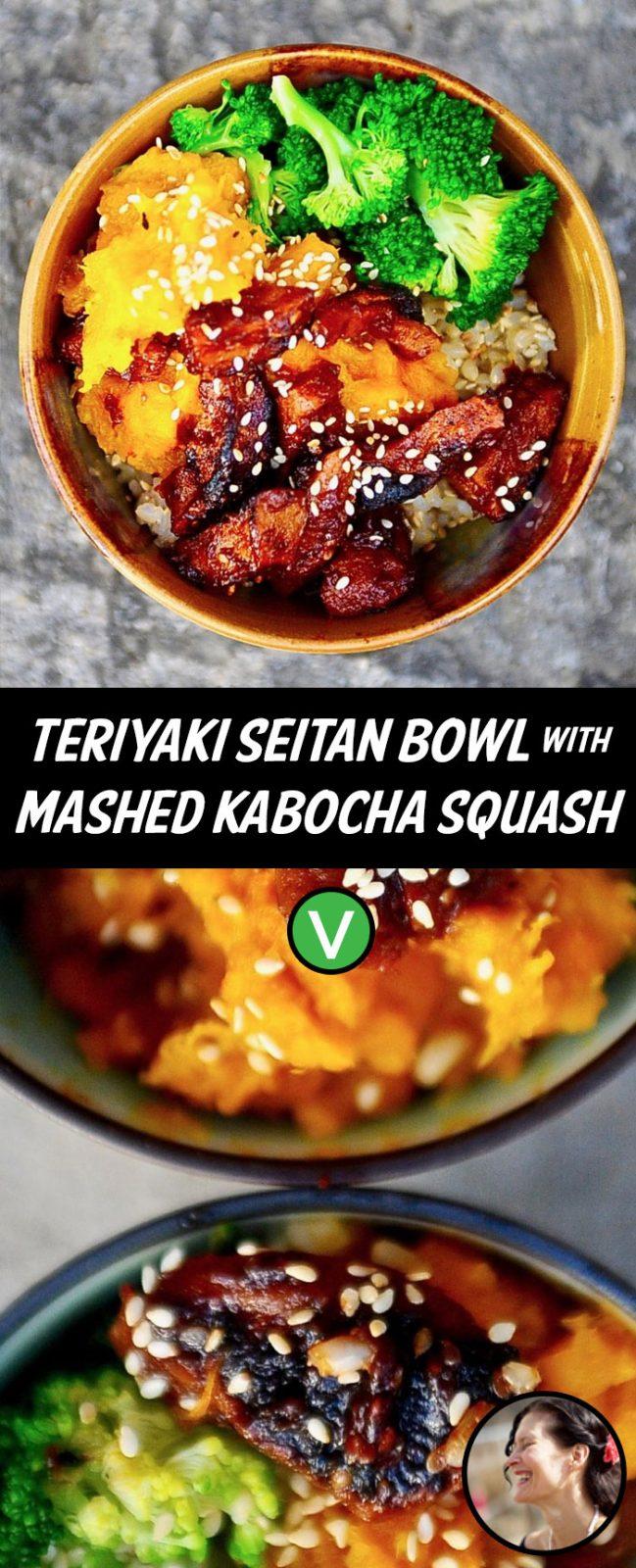 Teriyaki Seitan and Squash Bowl (Vegan)