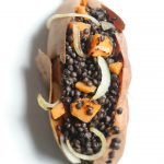 Black Lentil Stuffed Sweet Potato Boats (Vegan, Gluten Free)