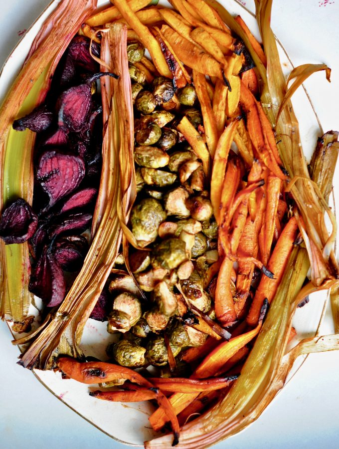 Cider-Glazed winter vegetables