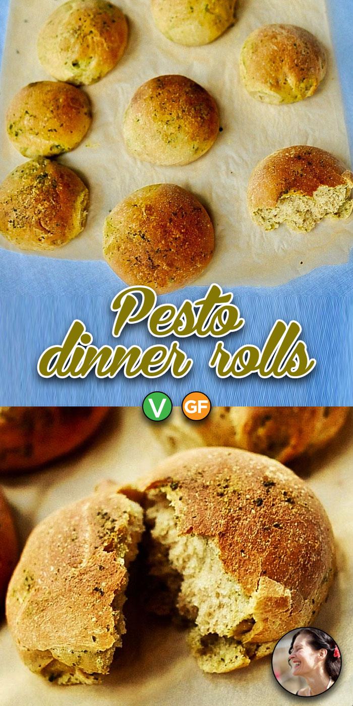 Pesto Dinner Rolls to Make for the Holidays (Vegan)