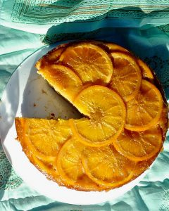 Orange Upside-Down Semolina Cake