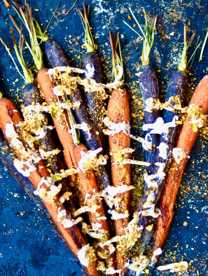 Roasted Carrots with Dukkah and Tahini, Vegan, Gluten Free