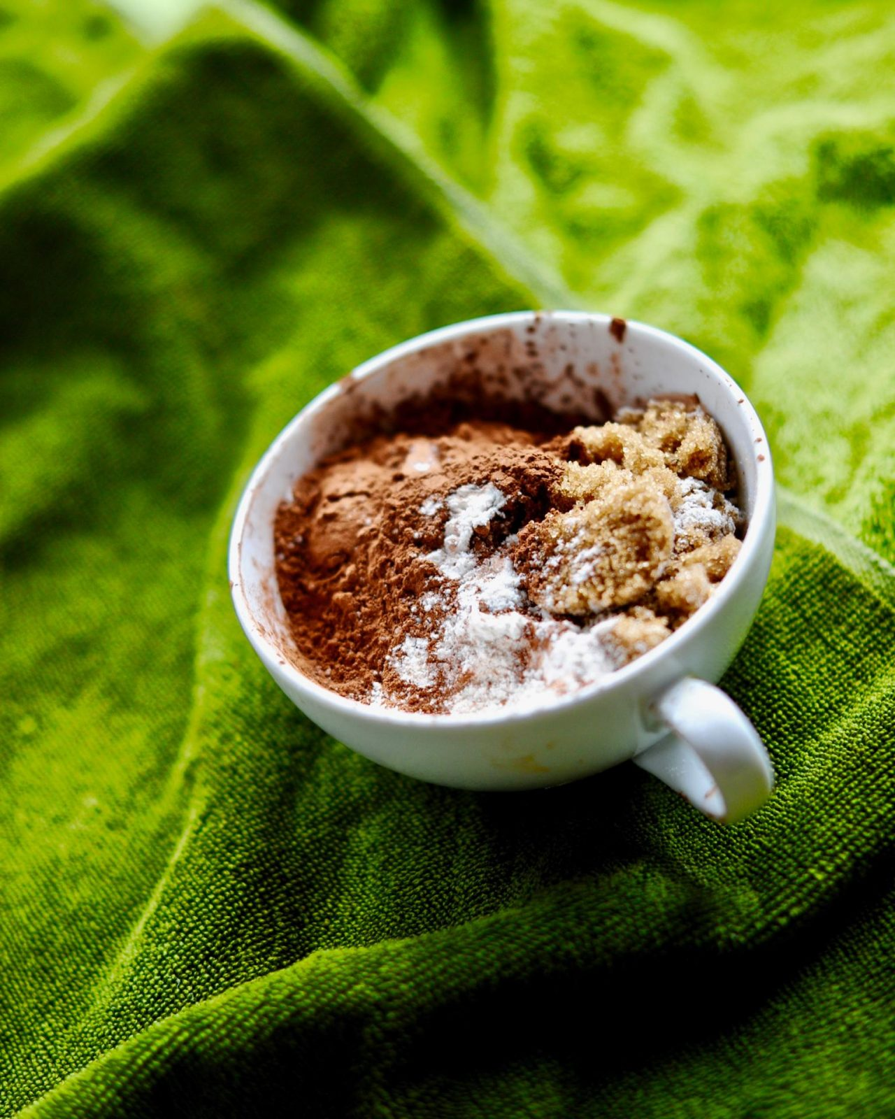Dark Chocolate Guinness Mug Cake, Vegan, Gluten Free
