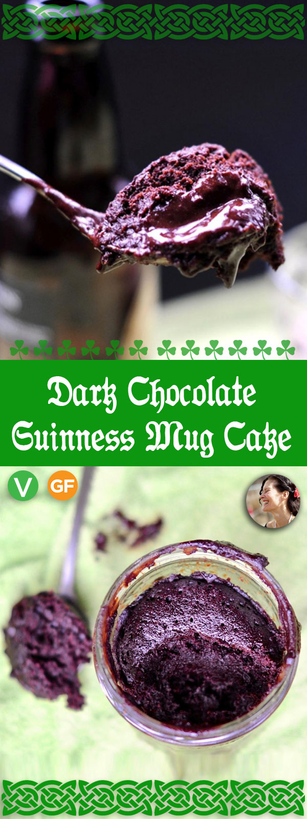 Dark Chocolate Guinness Mug Cake, Vegan