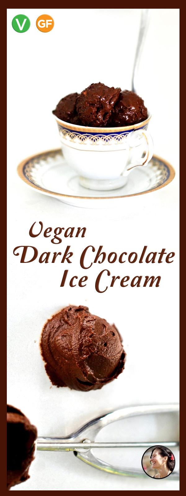 Deep Dark Vegan Chocolate Ice Cream with Aquafaba