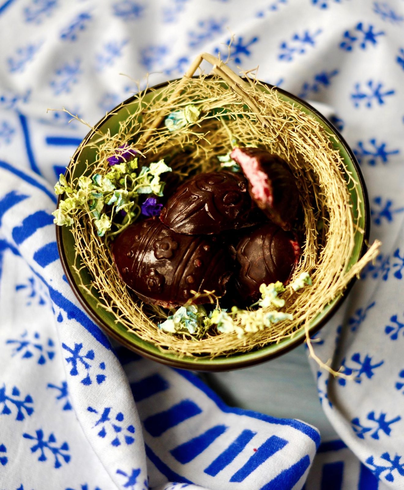 How to Make Chocolate Raspberry Easter Eggs (Vegan, Gluten Free)