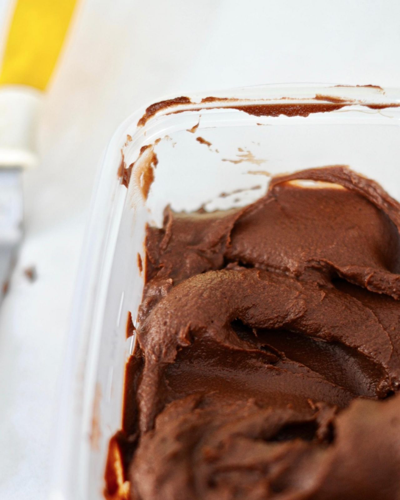 Vegan Dark Chocolate Ice Cream, Gluten Free with Aquafaba