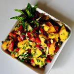 Spicy Ripe Papaya Salad (Vegan, Gluten Free)