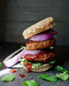 Ultimate Meatball Burger From Vegan Burgers and Burritos Cookbook