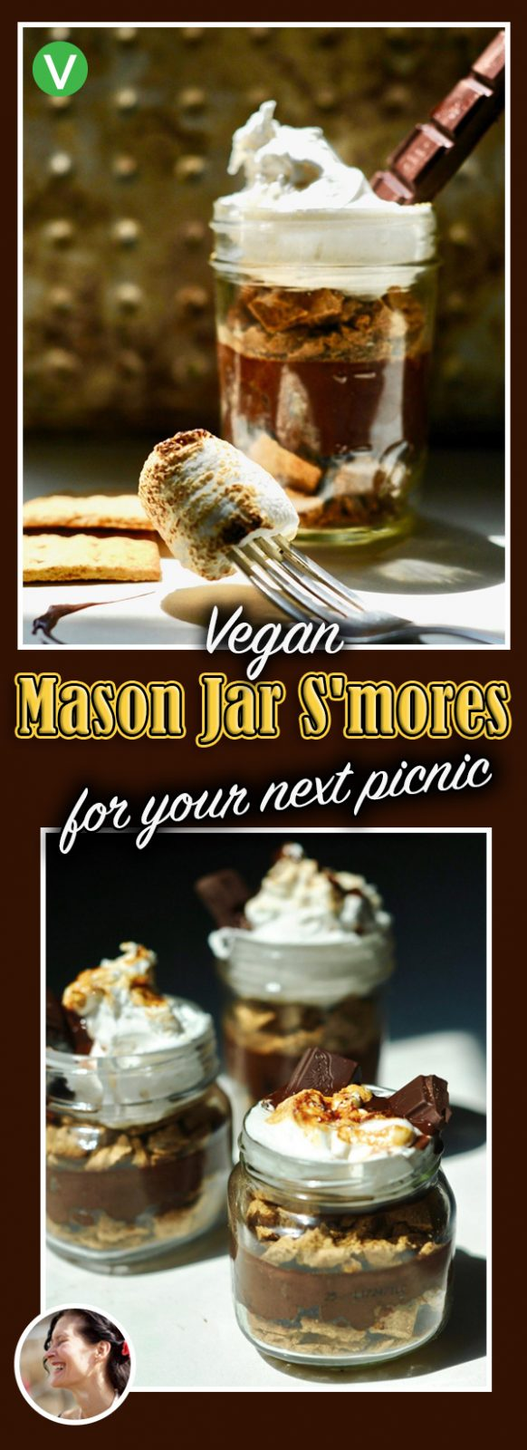 Vegan Mason Jar S'mores for your Next Picnic