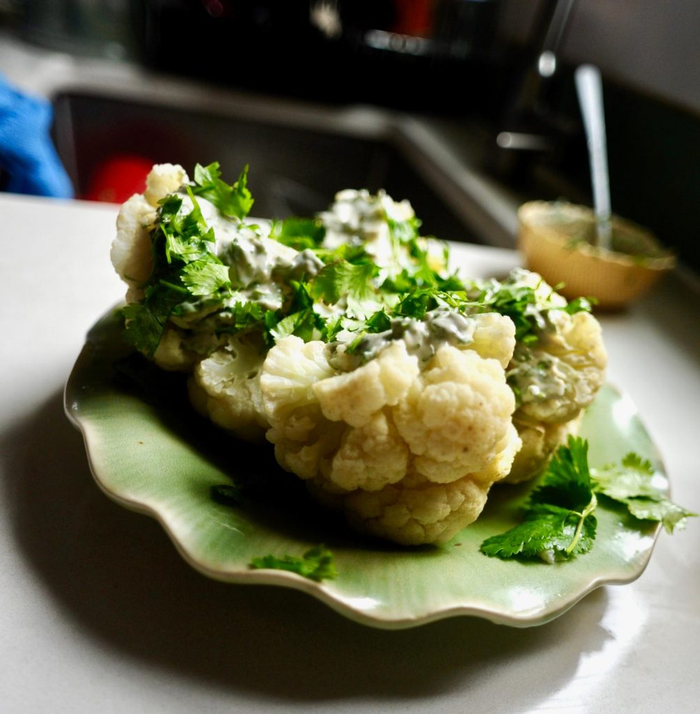 Ten Minute Dorm room Tahini Cauliflower recipe
