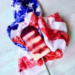 Red White and Blue Vegan Popsicles for the 4th of July