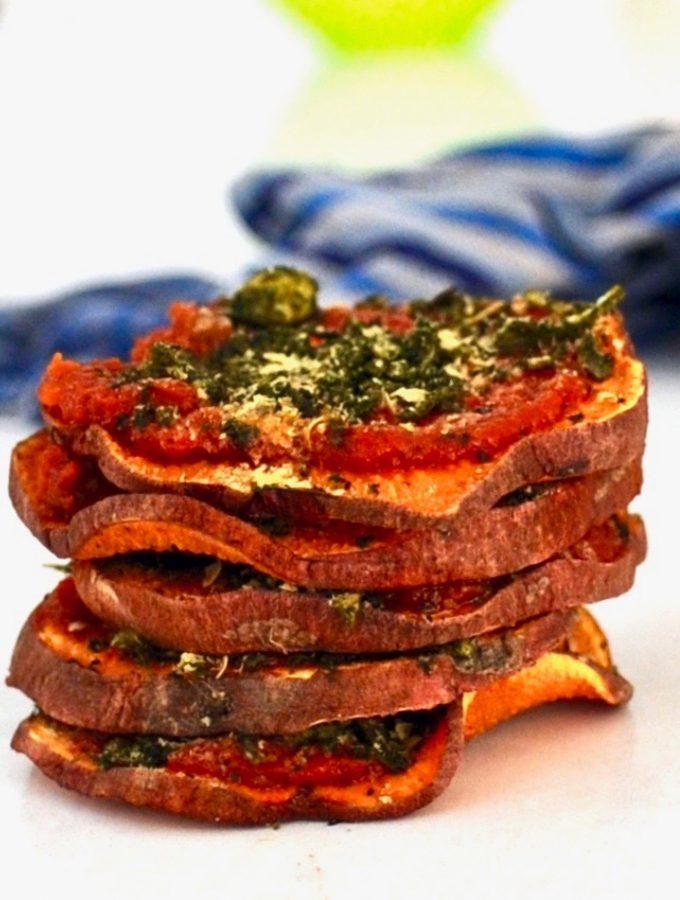 Vegan Sweet Potato Pizza Bites (Gluten Free)
