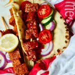 Greek Vegan Seitan Gyros with Tzatziki Sauce