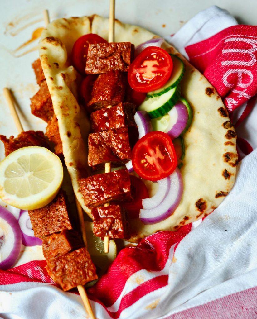 Greek Vegan Seitan Gyros with Tzatziki Sauce