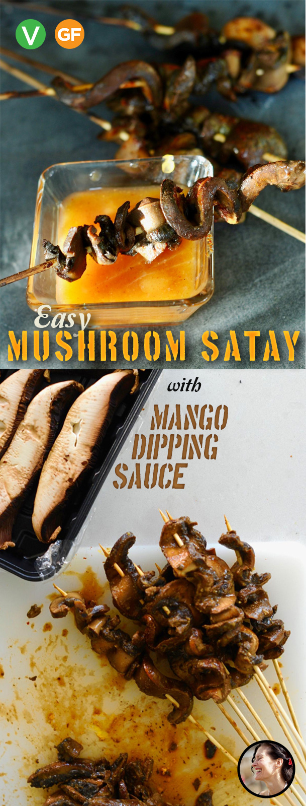Easy Mushroom Satay with Mango Dipping Sauce, Vegan and GF #10 ingredient