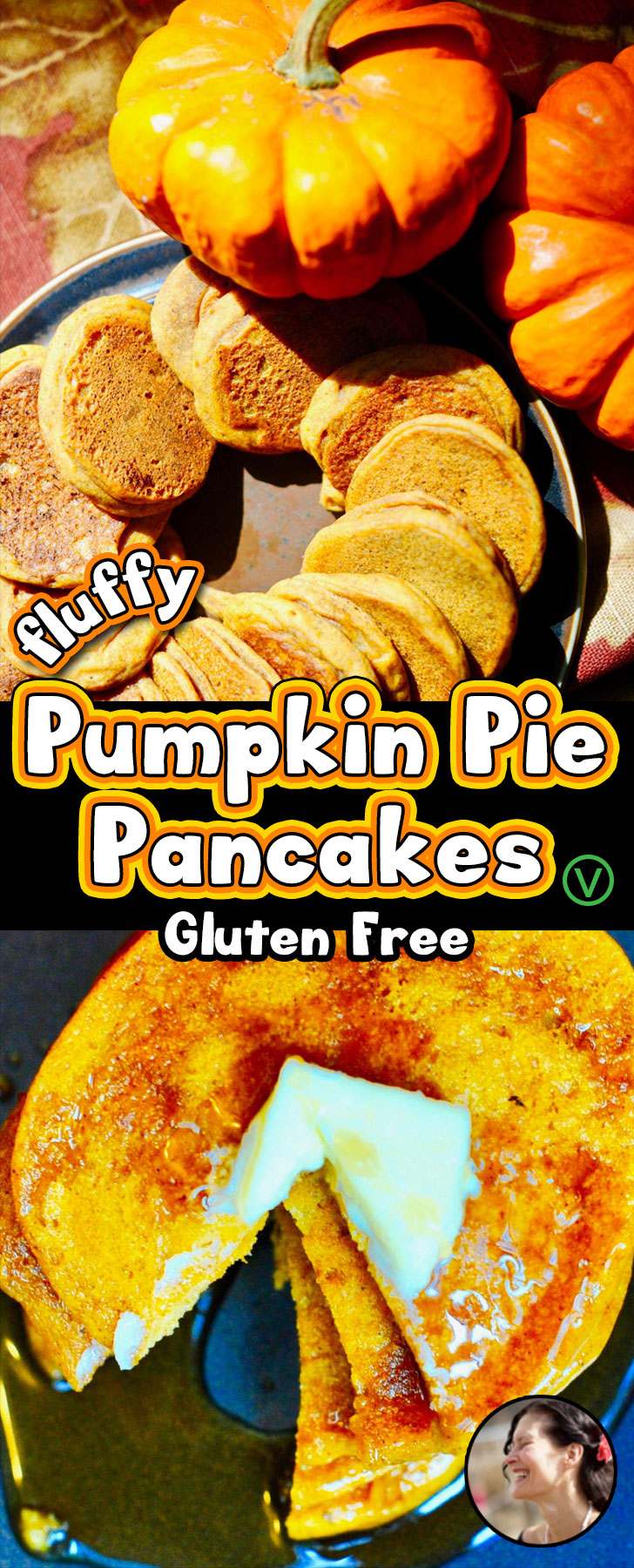 Fluffy Gluten Free Vegan Pumpkin Pie Pancakes! So fluffy they levitate! #aquafaba, Easy 20 minute