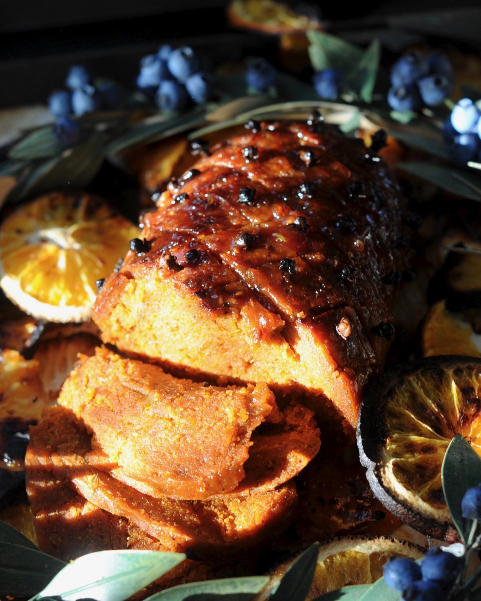 Maple Glazed Holiday Vegan Ham Recipe Sunnysidehanne