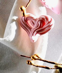 Heart shaped rose flavored vegan meringues