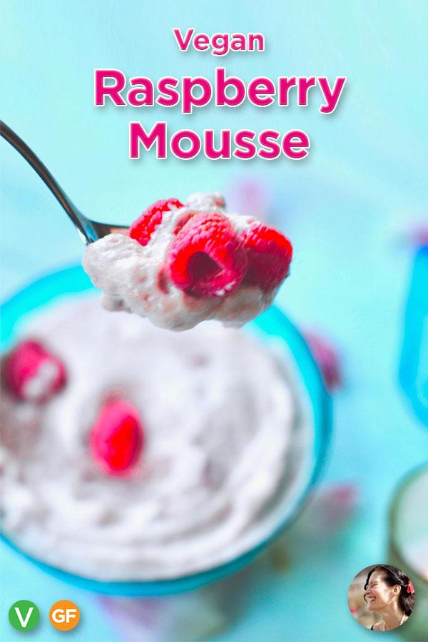 Luscious Vegan Raspberry Mousse